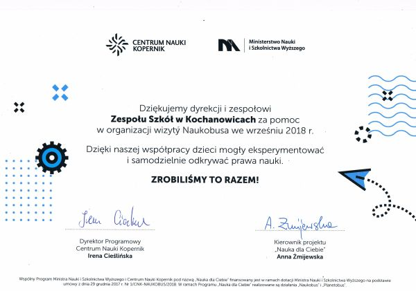certyfikat naukobus